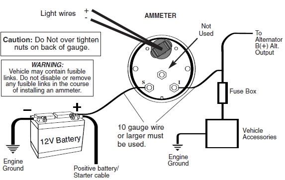 ford aftermarket voltmeter wiring diagram