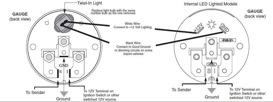 autometer voltage gauge wiring diagram
