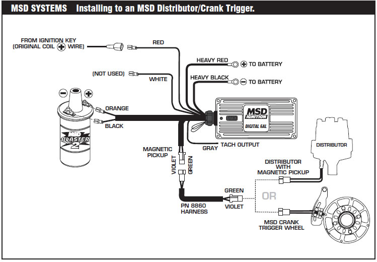 ignition coil distributor wiring diagram msd 6 offroad ignition
