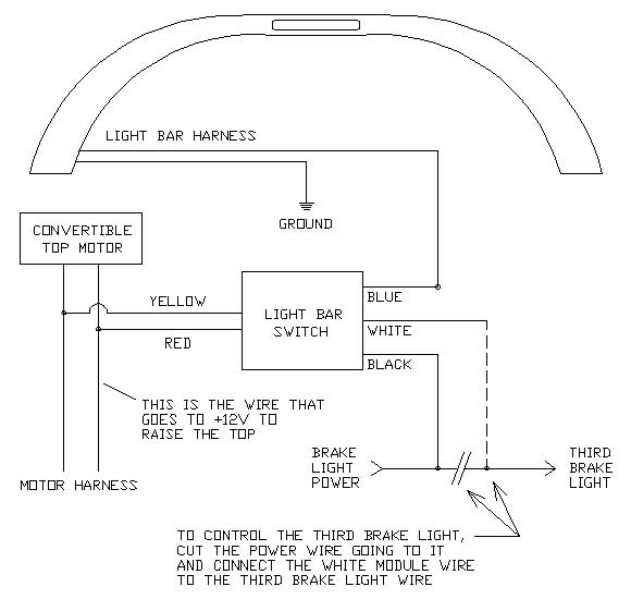 third brake light wiring diagram brake lights not working grand prix