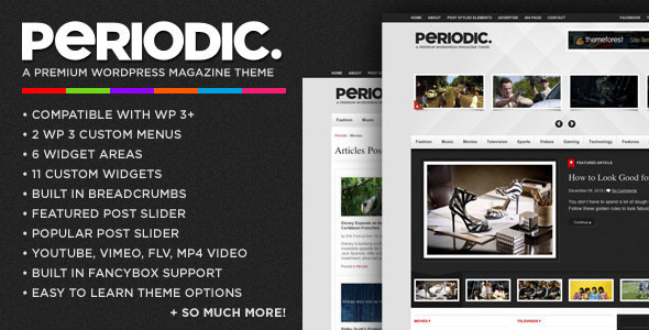 Periodic - A Premium WordPress Magazine Theme - ThemeForest Item for Sale