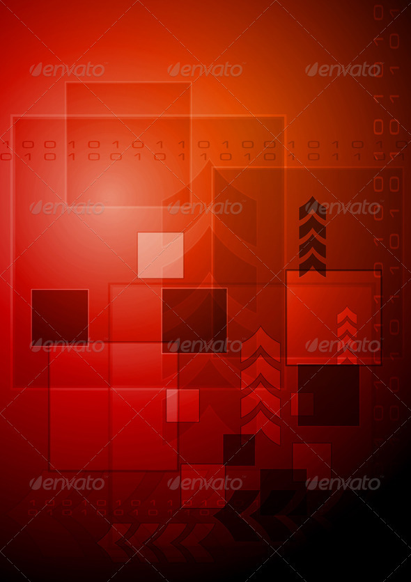 Red technology background abstract technology background