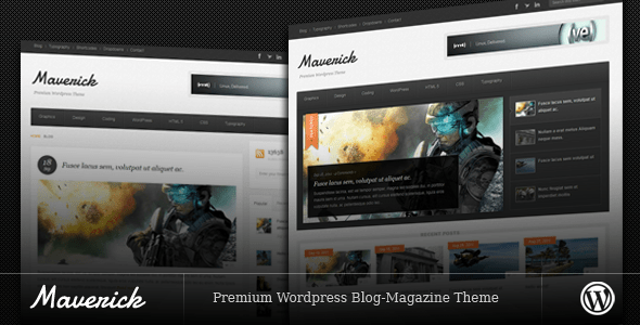 01 Maverick Preview 10 Classy Magazine Themes for Wordpress