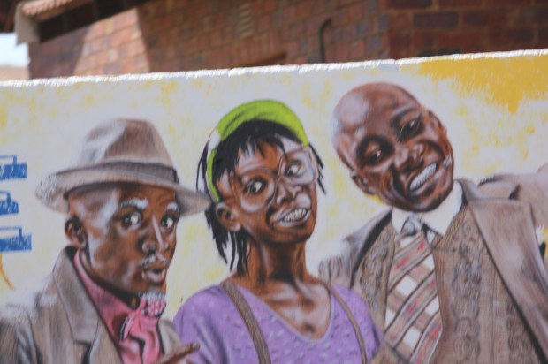 A mural in the Soweto.