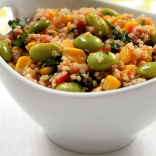 Vegan Sweet and Spicy Quinoa Salad