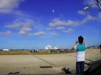 打上げ地点から5200メートル離れていても伝わる振動。ロケットの打ち上げって凄いんだな。