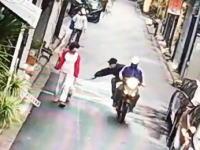 イヌ強盗。飼い主が散歩させている最中のワンちゃんが強奪される事件の映像。