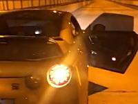 公道で0-300をする危険なR35 GTR乗りのビデオ(大阪)パトカーと鬼ごっこ。