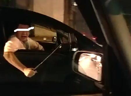 大阪のDQN。特殊警棒で威嚇してくるヤバいヤツに絡まれたドラレコ。