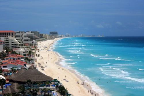 Пляж Канкун в Мексике