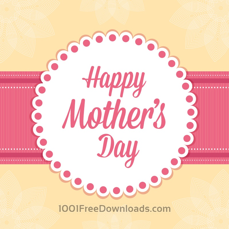 Free Vectors Happy Mother\u0027s Day Card Abstract