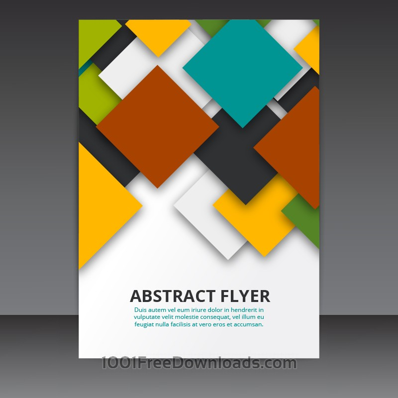 Free Vectors Flyer Template Vector Design with colorful 3D Squares