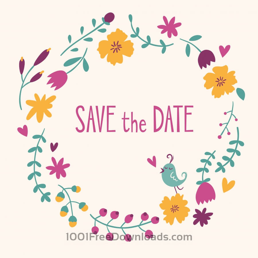 Cute Wallpapers For Girls In The Fall Free Vectors Save The Date Vector Card Backgrounds
