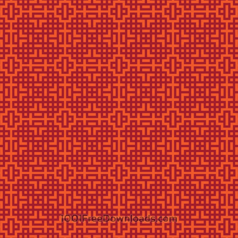 3d Cube Desktop Wallpaper Free Vectors Asian Red And Orange Geometric Pattern