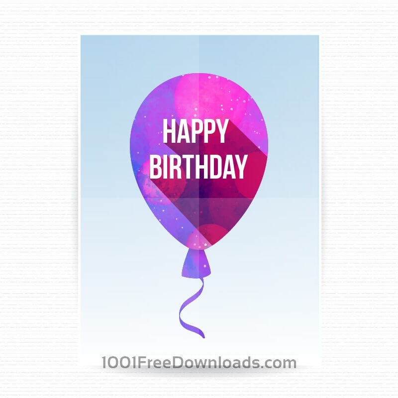 Free Vectors Happy birthday poster Backgrounds