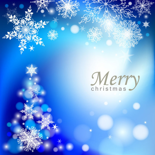 Free Vectors Elegant Blue Abstract Christmas Tree Background CGvector