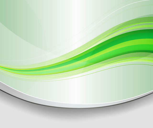 Free Vectors Abstract Green Waves Background with Curves