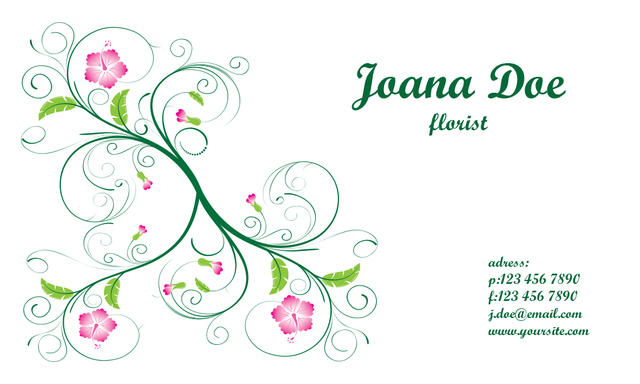 Free Vectors Elegant Floral Business Card Template Business Cards