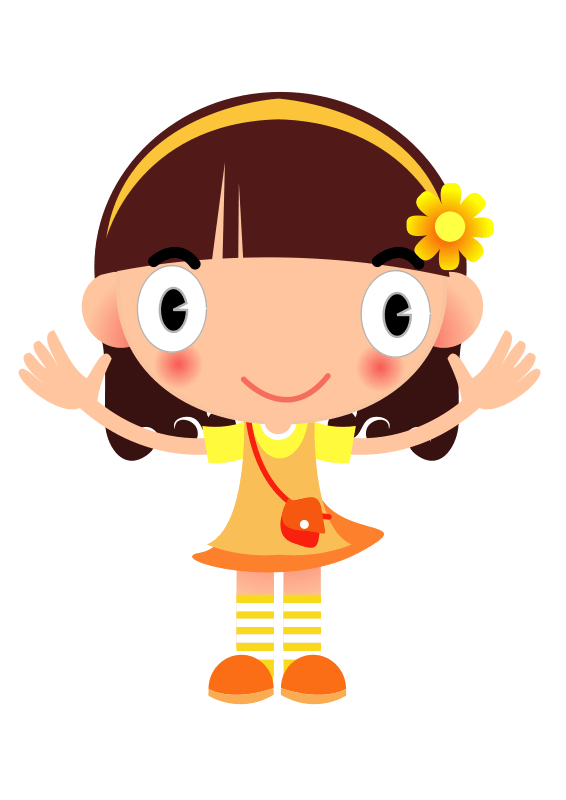 Cute Wallpapers Girls Animated Free Clipart Yellow Girl Sammo241