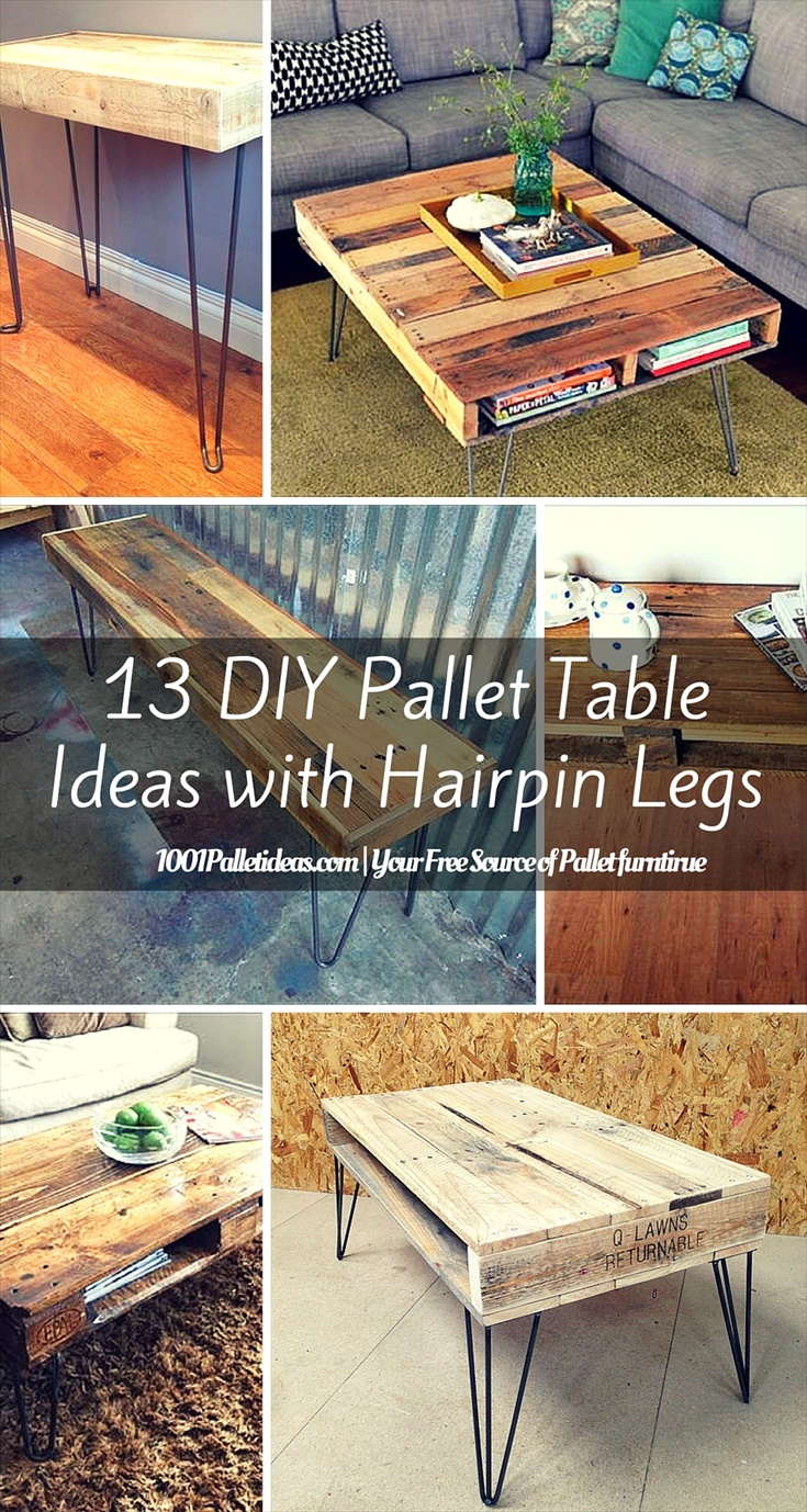 Diy Desk With Hairpin Legs 13 Diy Pallet Tables With Hairpin Legs 1001 Pallet Ideas