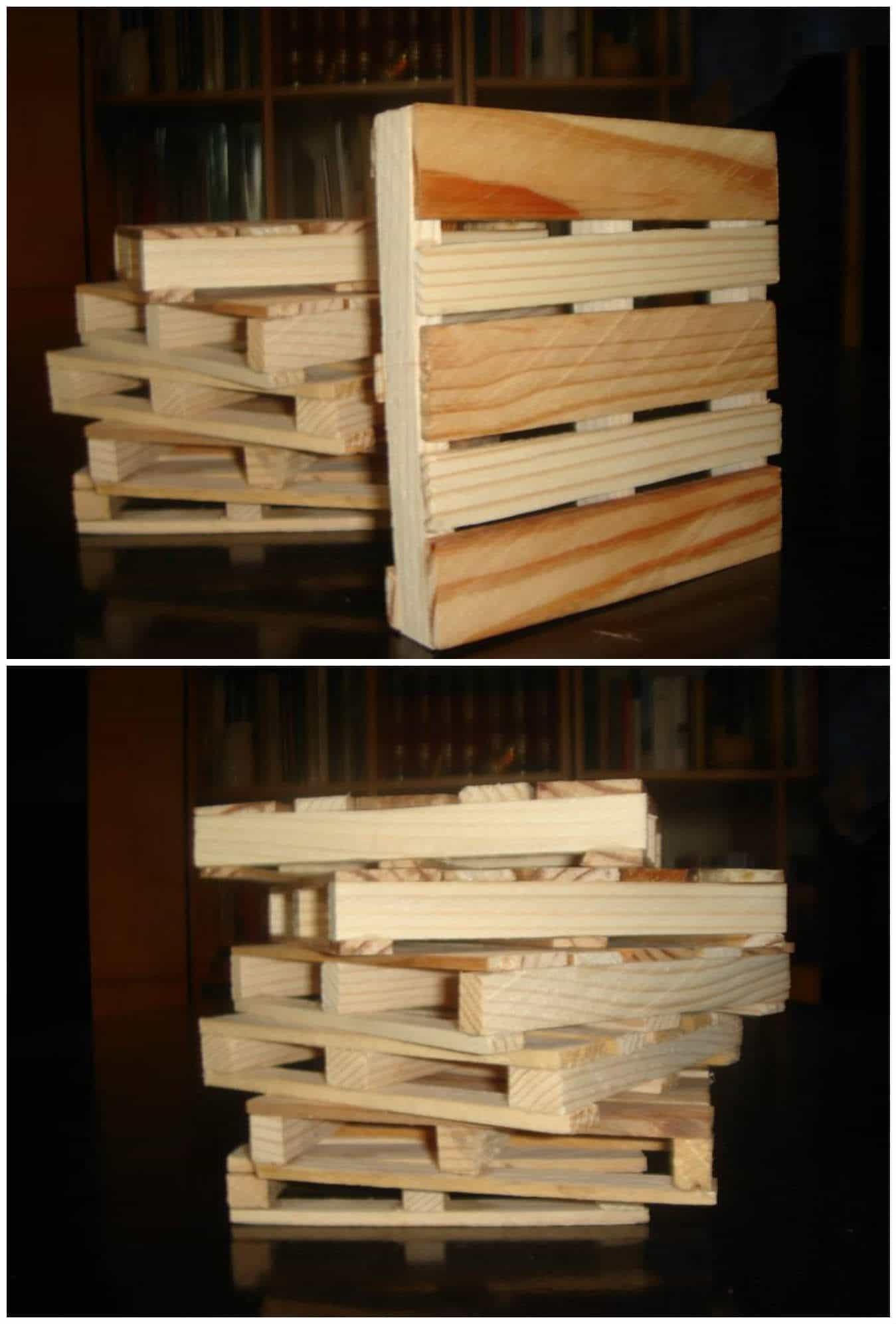 Christmas Decorations Living Room Coasters From Recycled Pallet Wood • 1001 Pallets