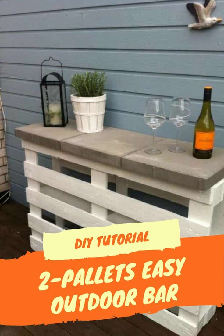 Palettenregal Diy Diy Tutorial Easy Pallet Bar Made Using 2 Pallets 1001 Pallets