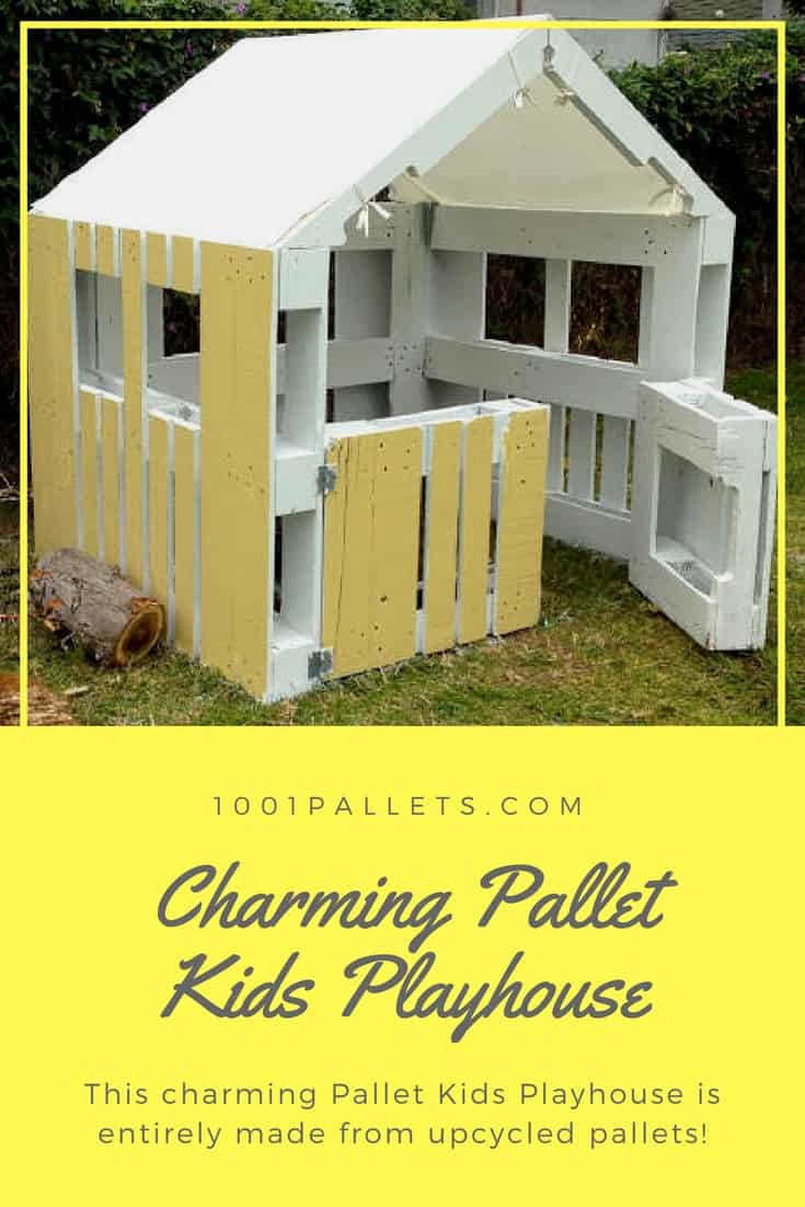 Pallets Knutselen Charming Inspired Pallet Kids Playhouse 1001 Pallets