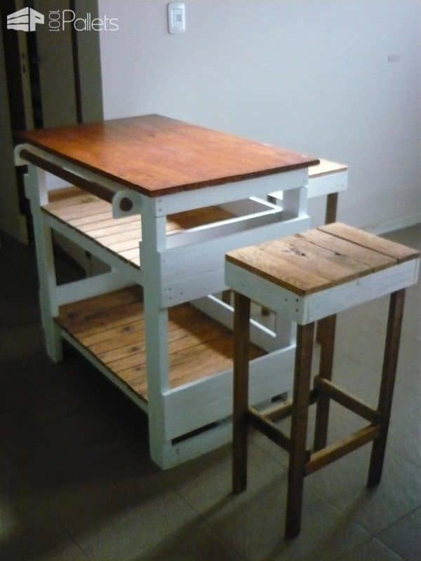 Chef Pallet Kitchen Island Table 1001 Pallets