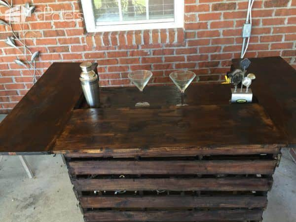 Metal Coffee Table Easy Pallet Bar • 1001 Pallets