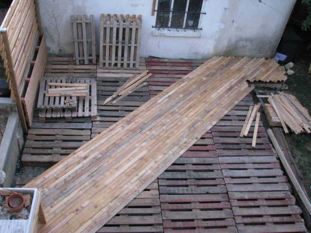Lame Bois Terrasse Diy Pdf Tutorial Pallet Terrace Deck • 1001 Pallets • Free