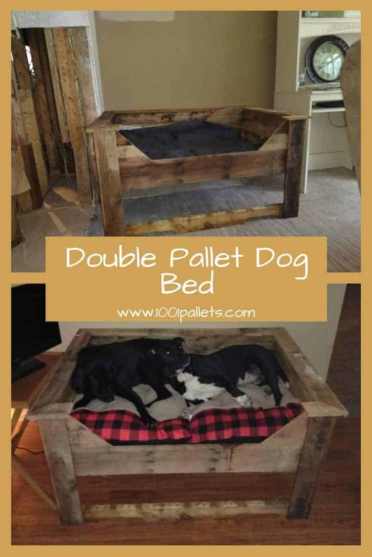 Double Dog Bed Double Pallet Dog Bed 1001 Pallets