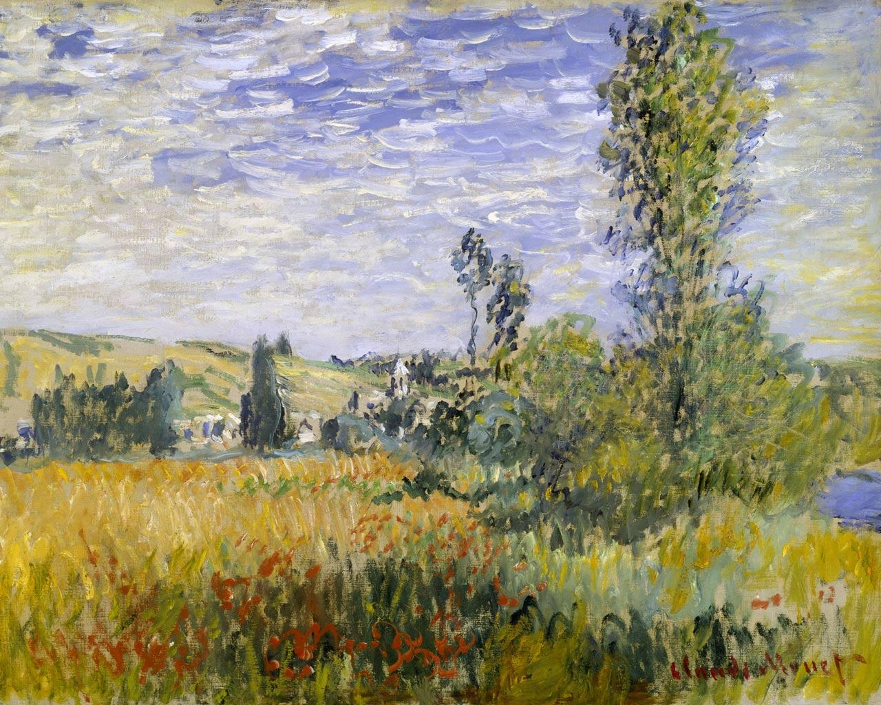 Pinturas De Claude Monet Best Artist Claude Monet Vétheuil 1280x1024 Wallpaper 1