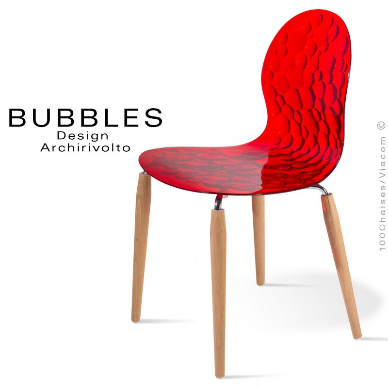 Chaises Design Plastique Chaise Design Translucide Bubbles Assise Plastique