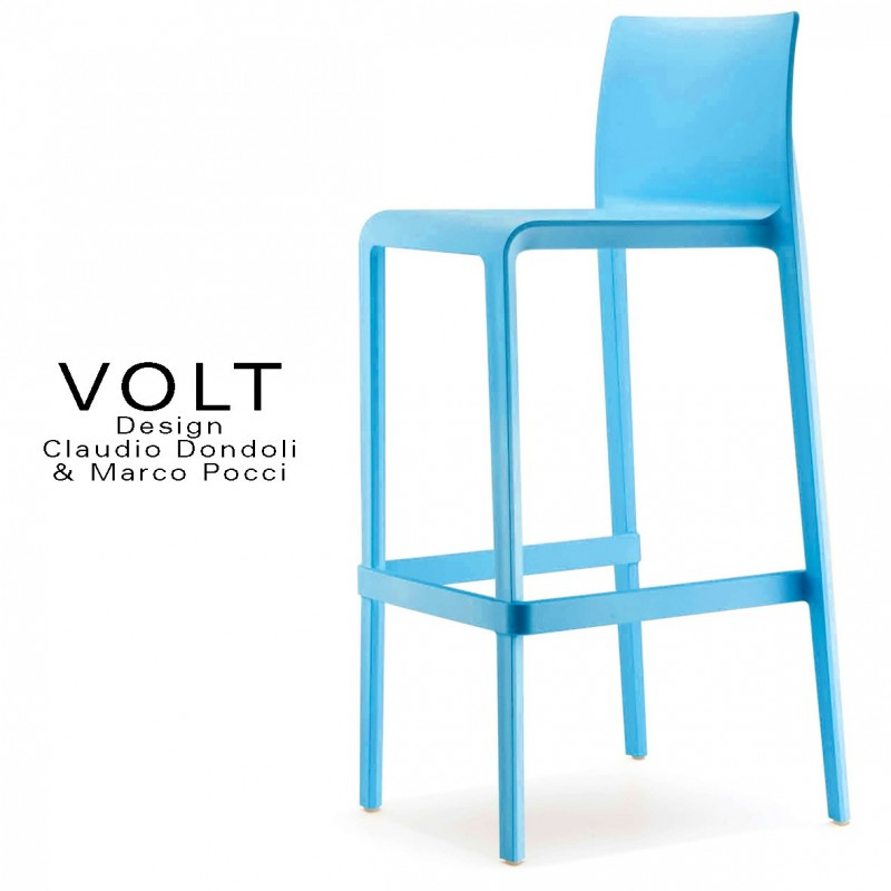 Chaises Empilables Design Tabouret De Bar Plastique Volt, Structure Polypropylène De