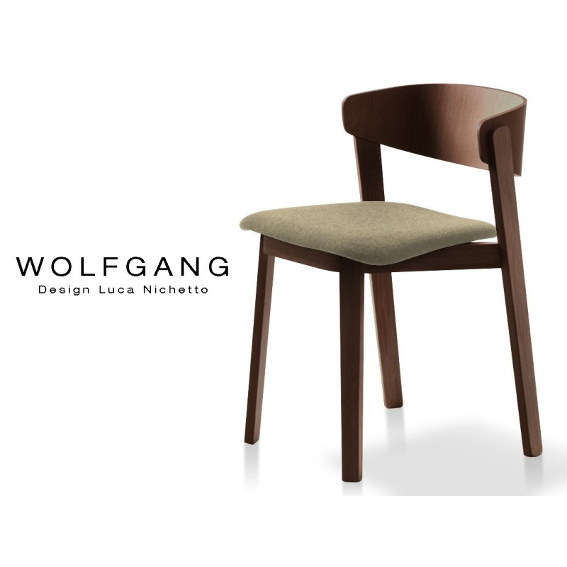 Fabricant Chaises France Chaise Design Bois Wolfgang Structure Chêne Finition Tabac