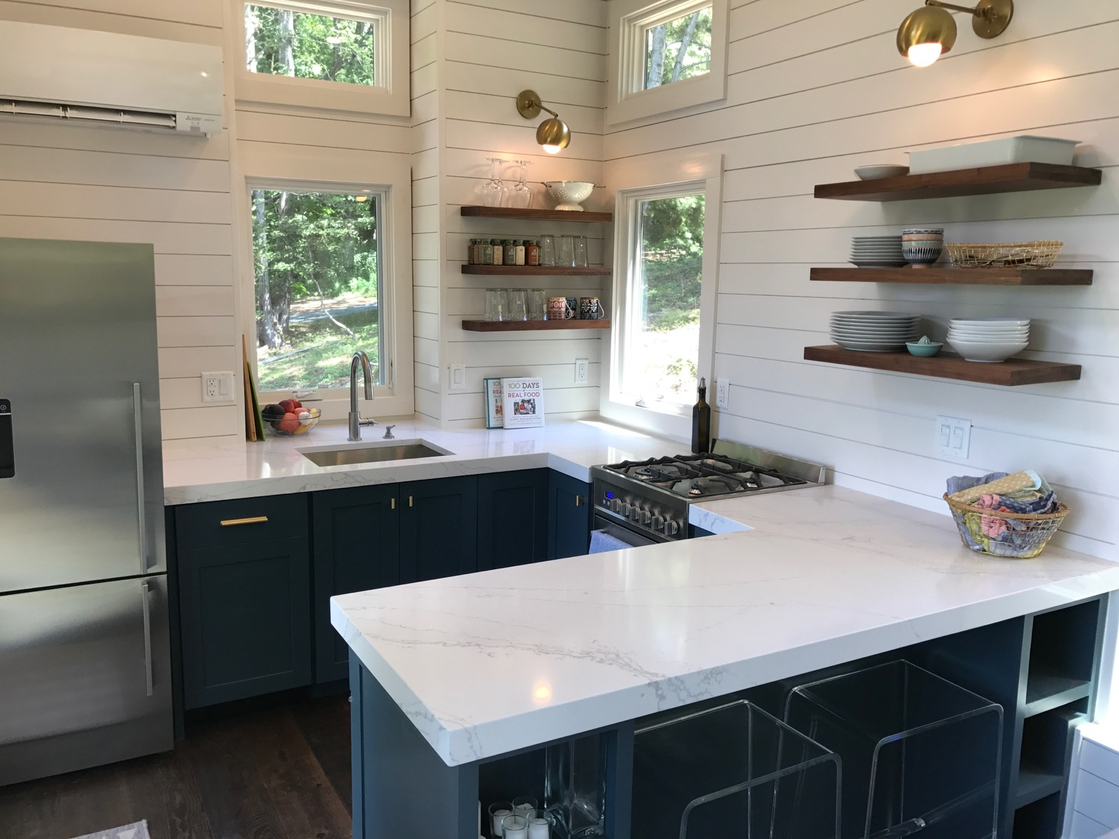 Super Small Kitchen What 39s In Our New Tiny House Kitchen 100 Days Of Real Food