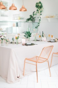 How to throw a modern tea party bridal shower - 100 Layer Cake