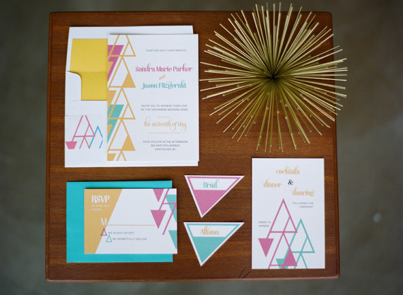 Family Room Chandelier Mid-century Modern Wedding Invitations | Wedding & Party