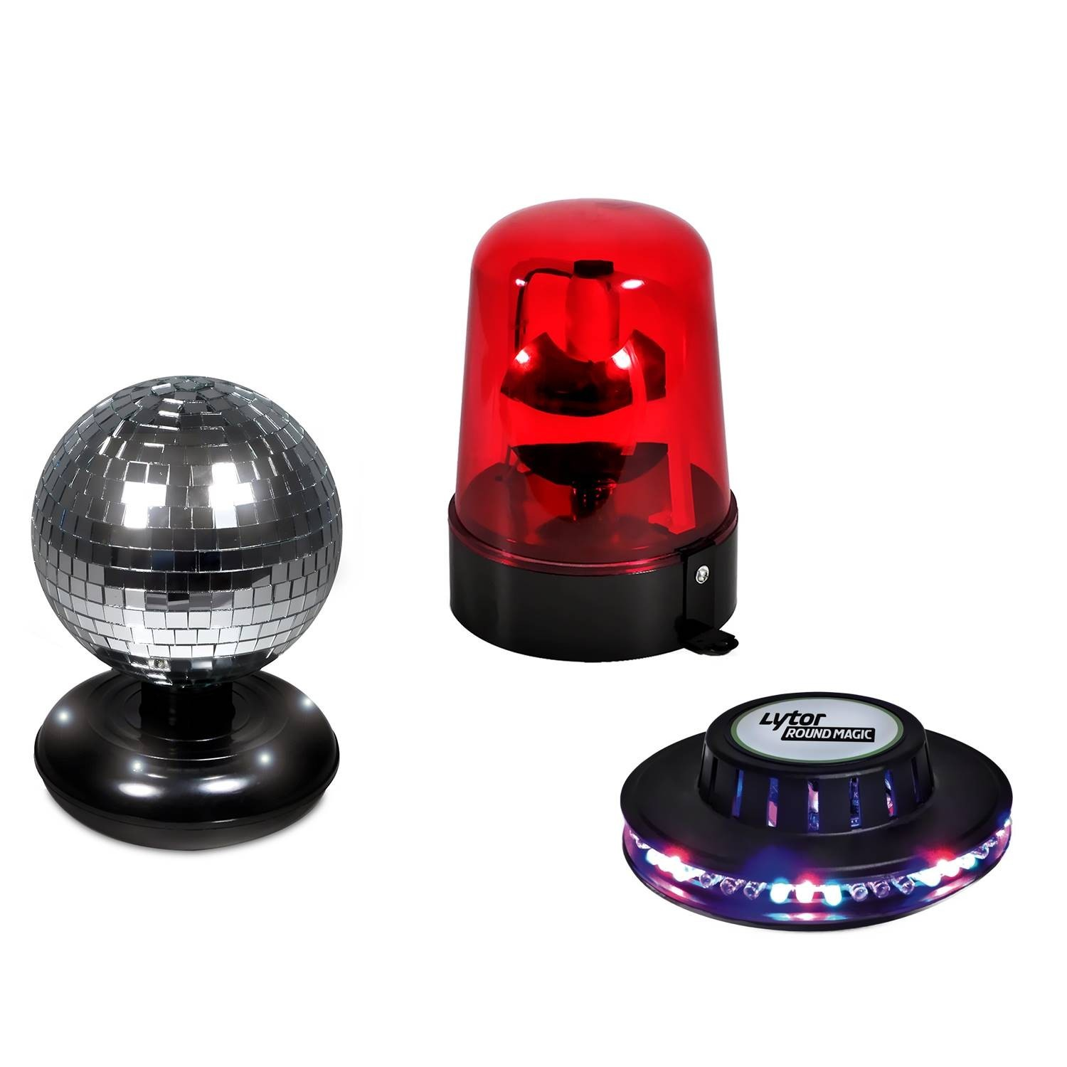 Pack Beacon Red Disco Ball Game Ufo Effect 48 Rgb Leds