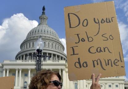 Shutdown e rischio default, l'economia USA in pericolo