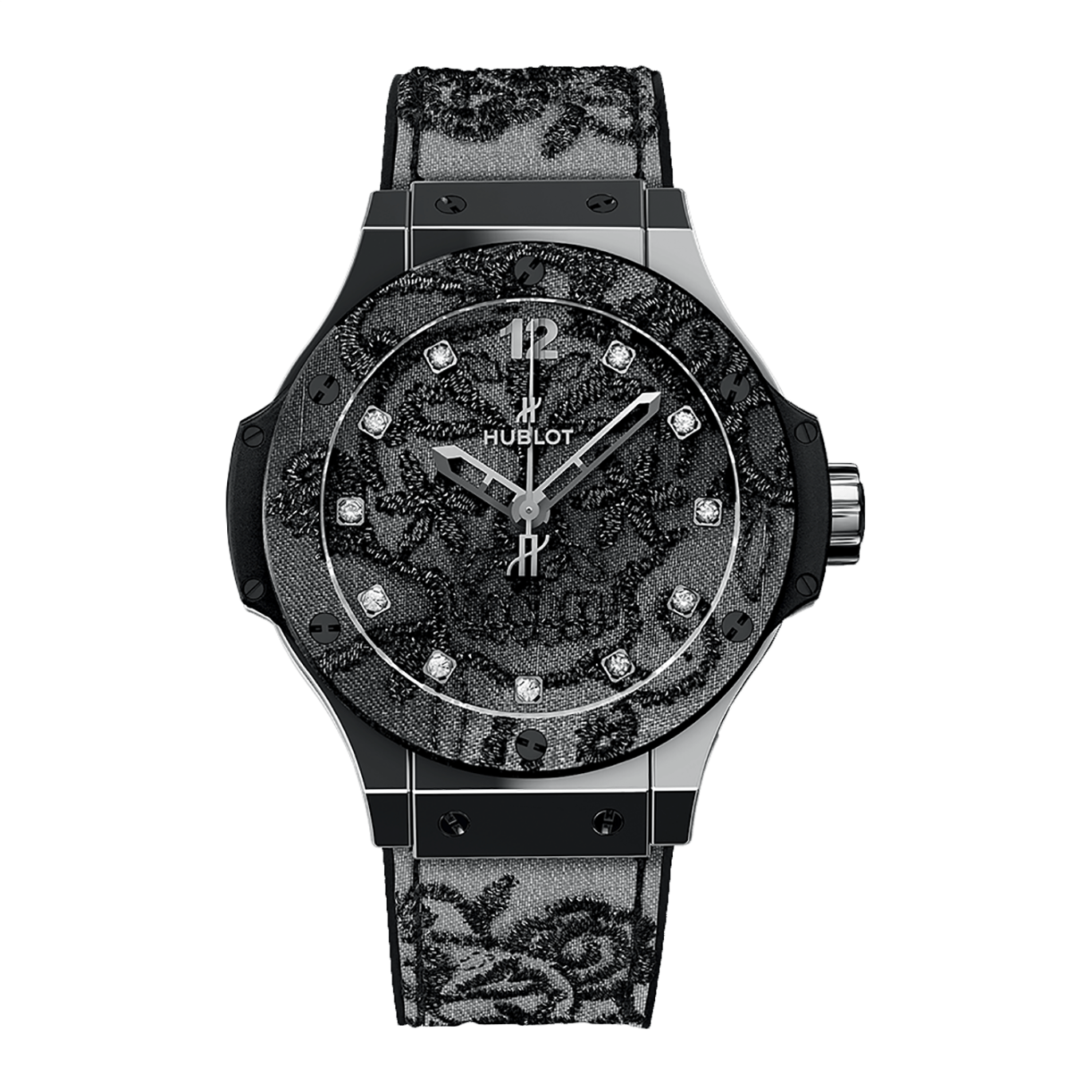 Hublot Uhr Schwarz Hublot Big Bang Broderie Sexy And Glamourous