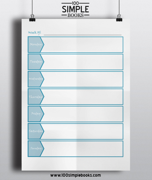 Free Weekly Planner Template 100 Simple Books - Free Printable Weekly Planner