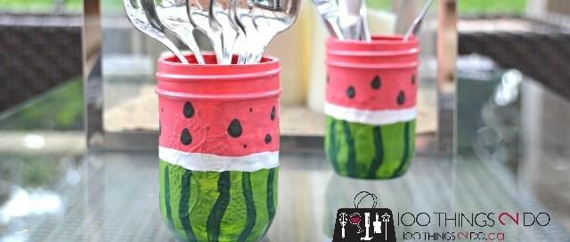 Watermelon utensil holders F