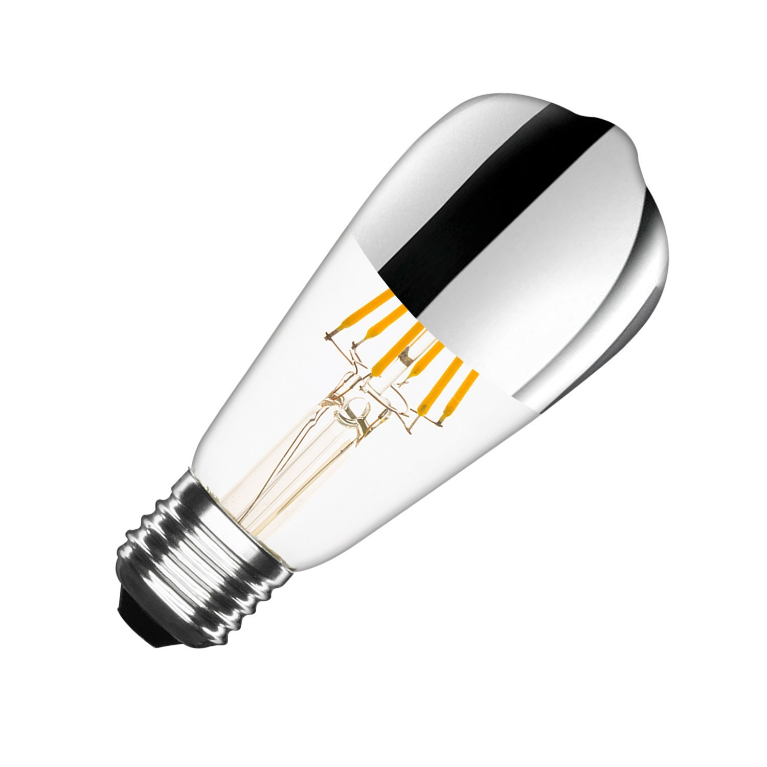 Ampoule Led Dimmable Ampoule Led E27 Dimmable Filament Chrome Reflect Big Lemon St64 7 5w Planete Leds Ampoules Led Spot Led Kit Xénon En Vente En Ligne
