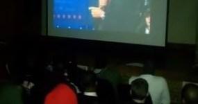 Howard University Students watching the 2nd Presidential Debate