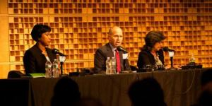 D.C. mayoral candidates at WAMU debate, from left: Muriel Bowser, David Catania and Carol Schwartz.