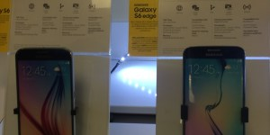 Samsung Galaxy S6 display in the Sprint PCS store, Washington, D.C.