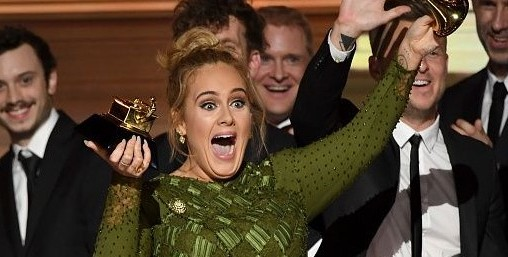 "Adele won album of the year for ""25."""