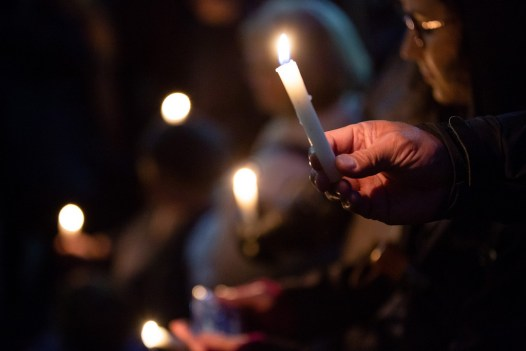Pittsburgh residents hold a vigil to mourn the 11 worshippers killed at the Tree of Life Synagogue.