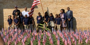 Ketcham Elementary students honor first responders at Engine Company 15.